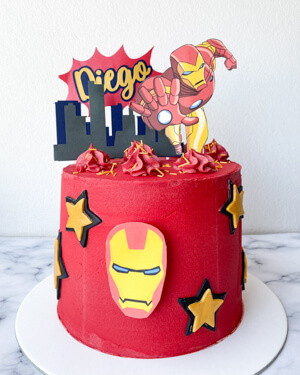 torta iron man