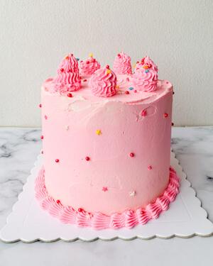 Torta para cumpleaños rosado